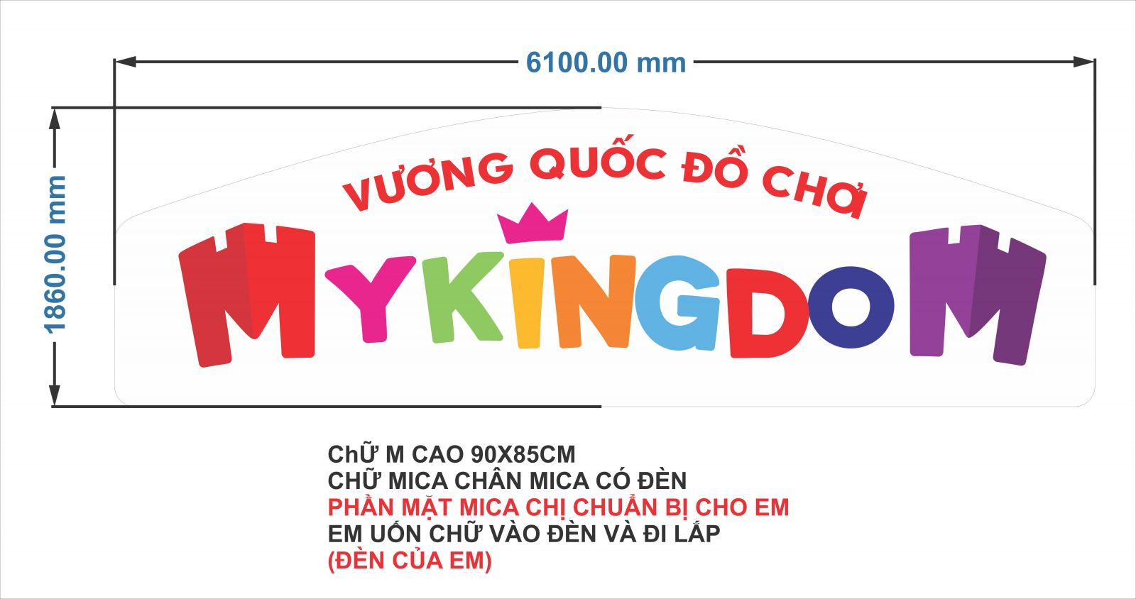 sản xuất thi công biển hiệu quảng cáo mykingdom